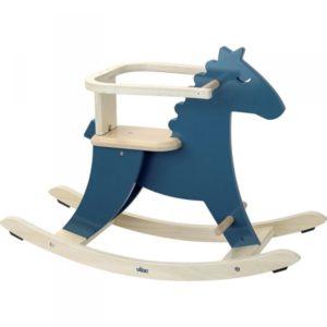 Cheval à bascule en bois Hudada bleu avec arceau – Vilac